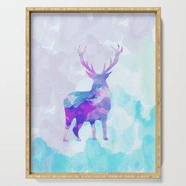 Abstract Deer II Serving Tray