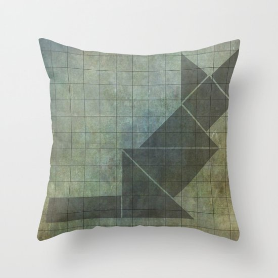 Sphynx cat in geometry Throw Pillow