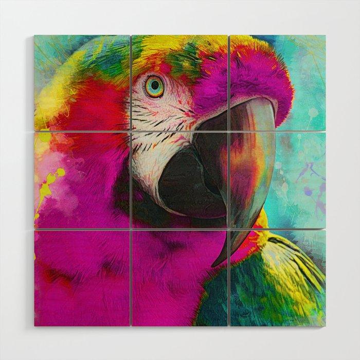 Parrot Ara Art Ara Parrot Animals Wood Wall Art By Jbjart
