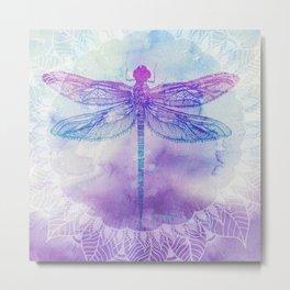 Mandala Dragonfly Metal Print