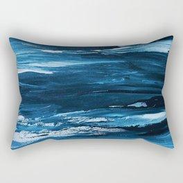 Blue Brush Strokes (Color) Rectangular Pillow