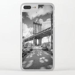 NEW YORK CITY Manhattan Bridge | Panorama Clear iPhone Case