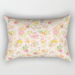 Blush Summer Garden Rectangular Pillow