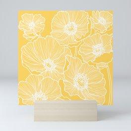 Sunshine Yellow Poppies Mini Art Print