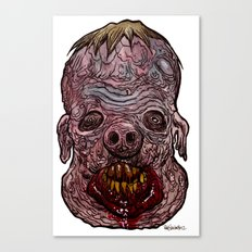 Heads of the Living Dead  Zombies: Swine Fusion Zombie Canvas Print