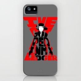 Black widow red iPhone Case