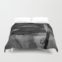 wave Duvet Covers featuring wave by habish