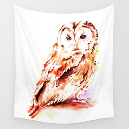 Strix aluco Wall Tapestry