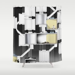 The Elevator Core Shower Curtain