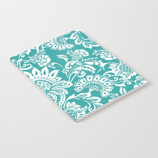 Damask in emerald Notebook