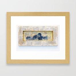 Whisper from the Burlesque Ghost Framed Art Print