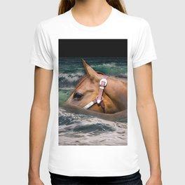 Horse ocean T-shirt