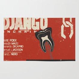 Django Unchained - Quentin Tarantino Alternative movie poster (Di Caprio, Walt, Foxx) Rug