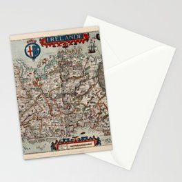 Map Of Ireland 1601 Stationery Cards