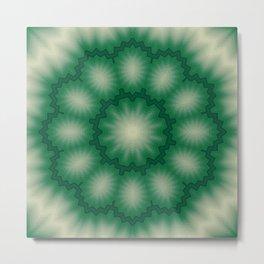 Green kaleidoscope Metal Print