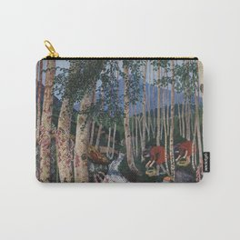 Floxgloves and White Birch amid the Stream landscape by Nikolai Astrup Carry-All Pouch