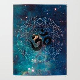Om & Flower of Life Poster
