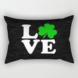Love with Irish shamrock Rectangular Pillow