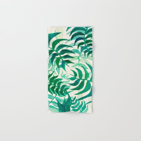 Botanical vibes Hand & Bath Towel