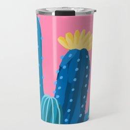 blue cacti Travel Mug