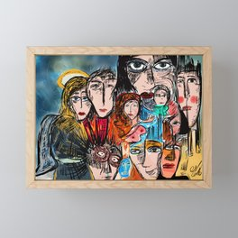 Réunion de famille Framed Mini Art Print