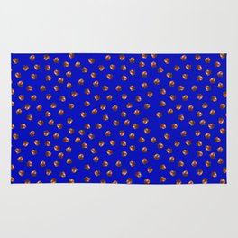 Acorn Pattern-Deep Blue Rug