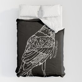 Raven White Comforters