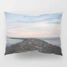 The Jetty at Sunset - Vertical Pillow Sham