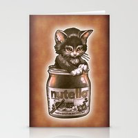 nutella Stationery Cards featuring Kitten Loves Nutella by Tim Shumate