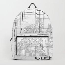 Minimal City Maps - Map Of Glendale, Arizona, United States Backpack