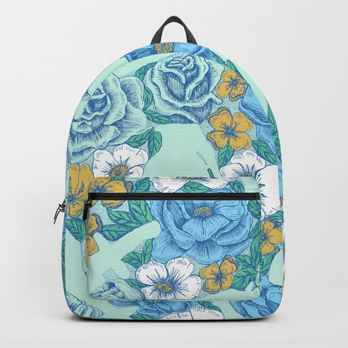 Weapon Floral-Blue Backpack