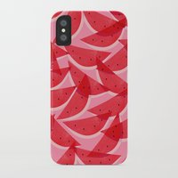 watermelon iPhone & iPod Cases featuring Watermelon by Georgiana Paraschiv