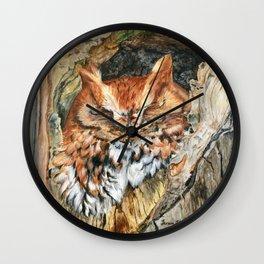 Woodland Screech by Teresa Thompson Wall Clock