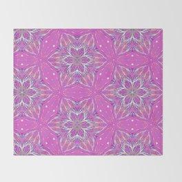 Violet stars Pattern Throw Blanket