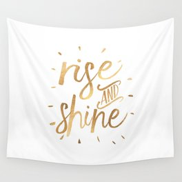 RISE AND SHINE Sign, Bedroom Decor,Home Decor,Living Room Decor,Motivational Quote,Rise And Grind,Qu Wall Tapestry
