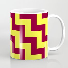 Electric Yellow and Burgundy Red Steps LTR Coffee Mug