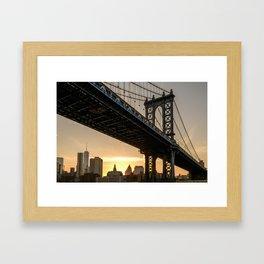 Manhattan Bridge, NYC Framed Art Print