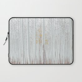 White tree forest Laptop Sleeve