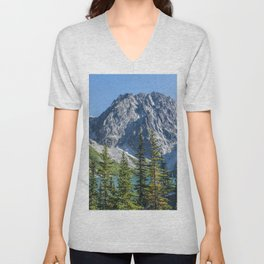 Blue Sky Over Enchantments Unisex V-Neck