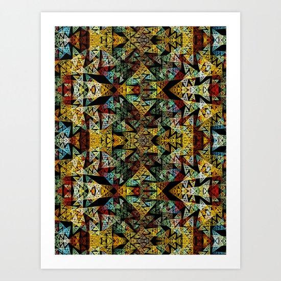 Etno Style - pattern Art Print