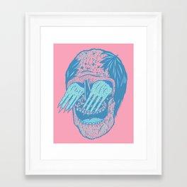 Hand/Eye Framed Art Print