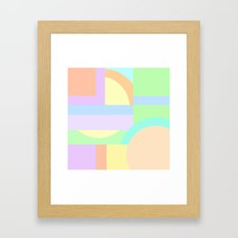 Pastel Shape Maze Framed Art Print