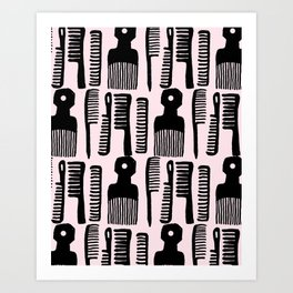 Comb It! Art Print