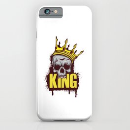 A Unique Detailed Skull Tee For Yourself? Here's An Awesome T-shirt For You King Skull Design Crown iPhone Case