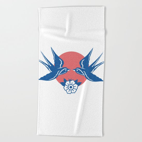 Love Love, Kiss Kiss Beach Towel
