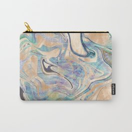Liquid Bronze Mermaid Sea Marble Carry-All Pouch