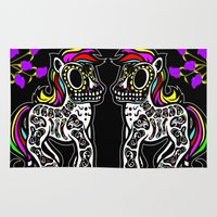 mlp Area & Throw Rugs featuring Sugarskull MLP by BURPdesigns