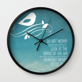 Do Not Worry Wall Clock