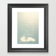sky and clouds Framed Art Print