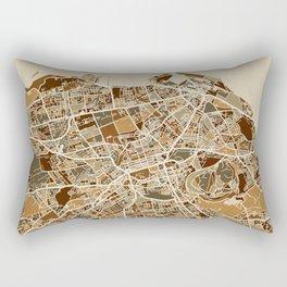 Edinburgh Street Map Rectangular Pillow